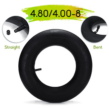 4.80/4.00-8 Trolley Pneumatic Wheel Inner Tube Rubber Bent/Straight Mouth Wheel Inner Tube for 2.50 x 8 inches Trolley Tires