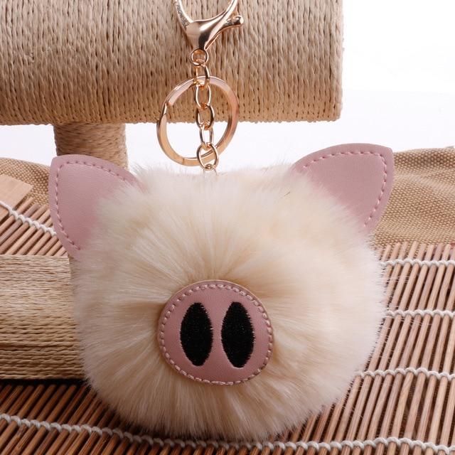 Kids Toys for Girls Children Birthday Christmas Gift Colorful Soft Plush Stuffed Animal Backpack Pig Keychain Pendant Dolls