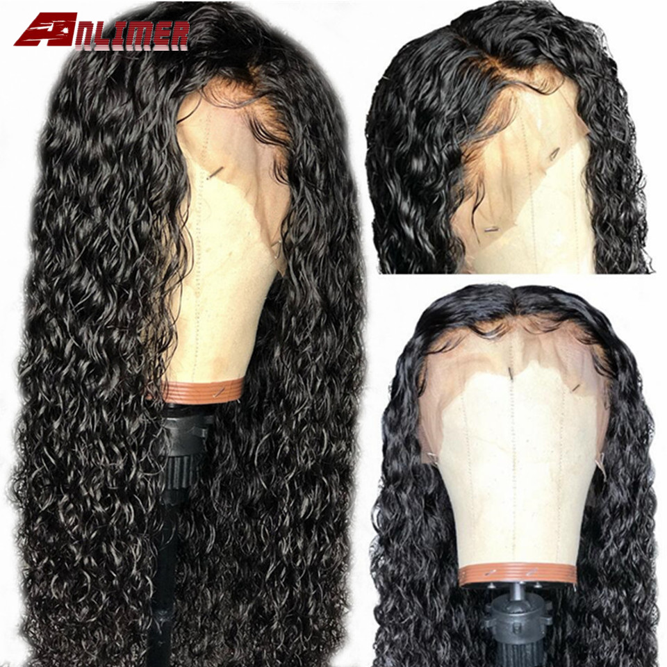 Full Lace Human Hair Wig Pre Plucked Water Wave Glueless Remy Brazilian Water Curly Full Lace Wig Full End with Natural Hairline