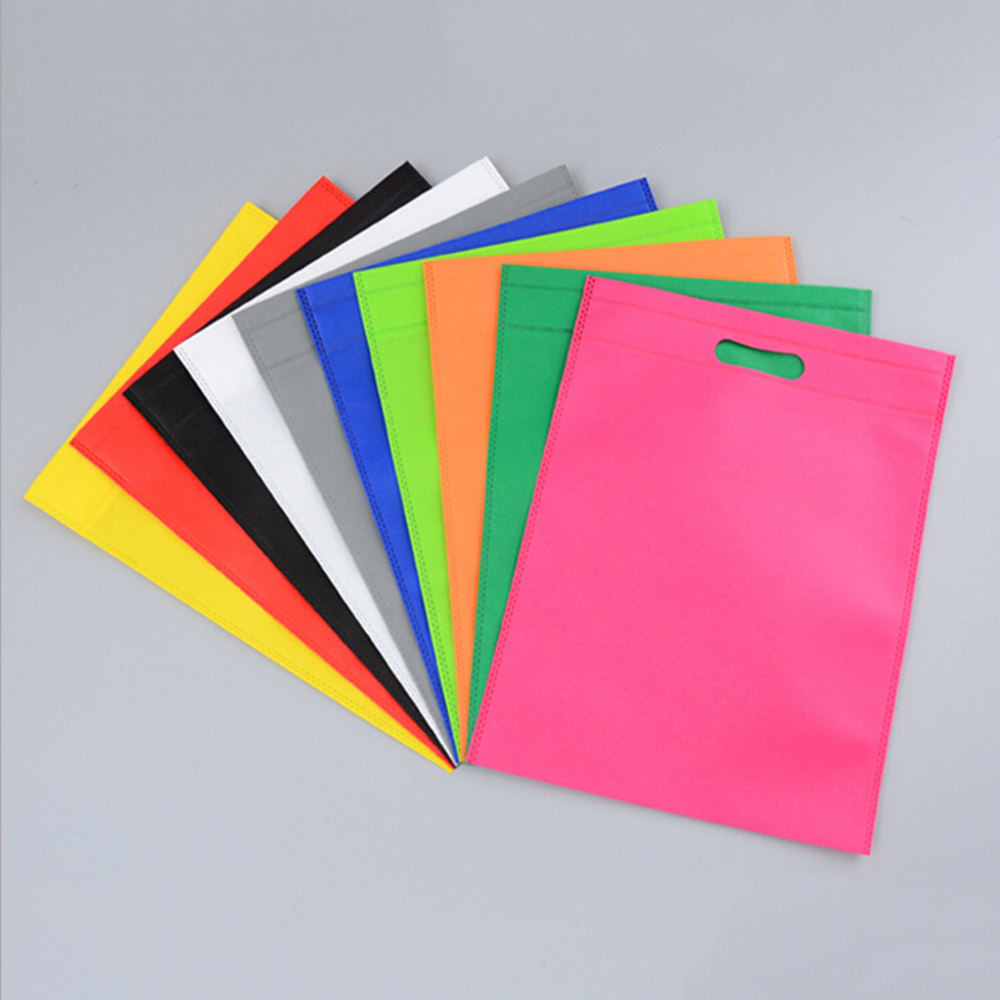 30x40cm Reusable Shopping Bag Non-Woven Fabric Bags Folding Shopping Bag Creative Environmental Storage Bag Handbag