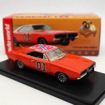 Auto świat 1/43 dla D ~ ge ładowarka ogólne Lee 1969 czerwony AWRSS1151 edycja limitowana kolekcja modele z żywicy