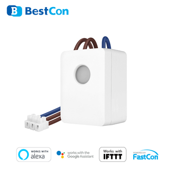 2020 BestCon New Coming SCB1E Smart home Automation APP wifi controlled Timer Wall Switch for Broadlink APP broadlink tc2 wifi switch touch panel us au standard wall light switch app control via broadlink rm pro smart home automation