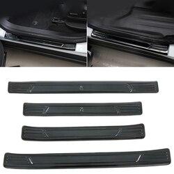 Apto para chevrolet blazer 2019 2020 acessórios do carro automático de aço inoxidável peitoril da porta placa scuff pedal graund protetor capa 4pcs