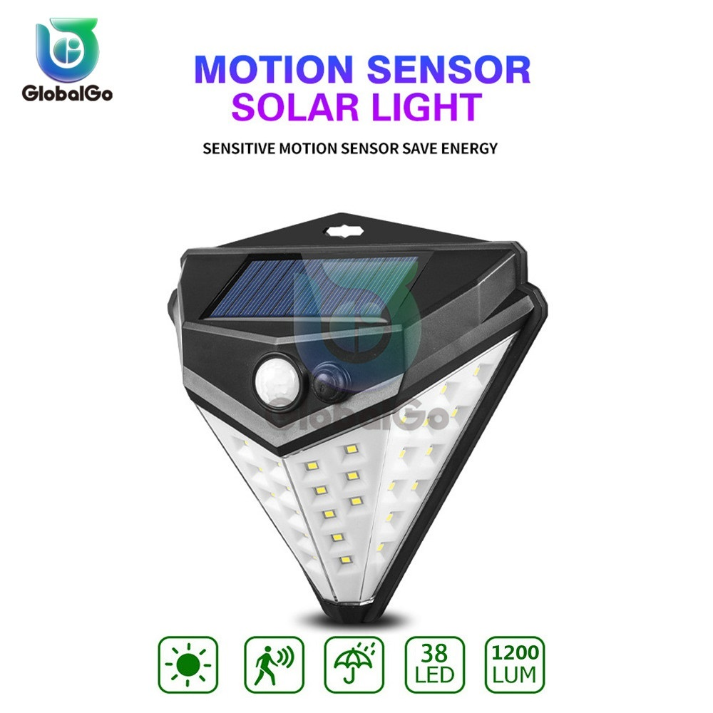 38LED Solar Lamp Infrared Motion Sensor Waterproof Outdoor Night Lighting Garden Door Garage Emergency Sensor Lamp Light