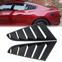2Xรถด้านข้างABS Deflector Ventหน้าต่างScoop Louverฝาครอบสติกเกอร์Trim FitสำหรับFord Mustang 2015   2018