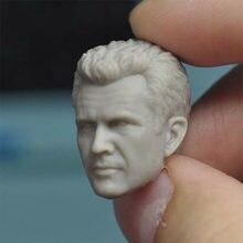 1:12 macho diretor sem pintura mel gibson cabeça esculpida para 6 figure figure figura de ação corpo