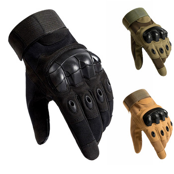 Wojskowe rękawice taktyczne Paintball Airsoft polowanie strzelanie jazda na zewnątrz Fitness piesze wycieczki bez palców pełne rękawiczki tanie i dobre opinie CN (pochodzenie) Microfiber Tactical Gloves Hunting Shooting Military Training Unisex Black Khaki Army Green Nylon Shock absorption and anti-skid Sports protection
