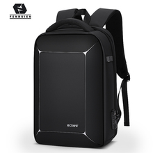 Fenruien Three dimensional TSA Lock Anti theft Men 15.6 inch Laptop Backpack USB Charging Business Waterproof Travel Backpack