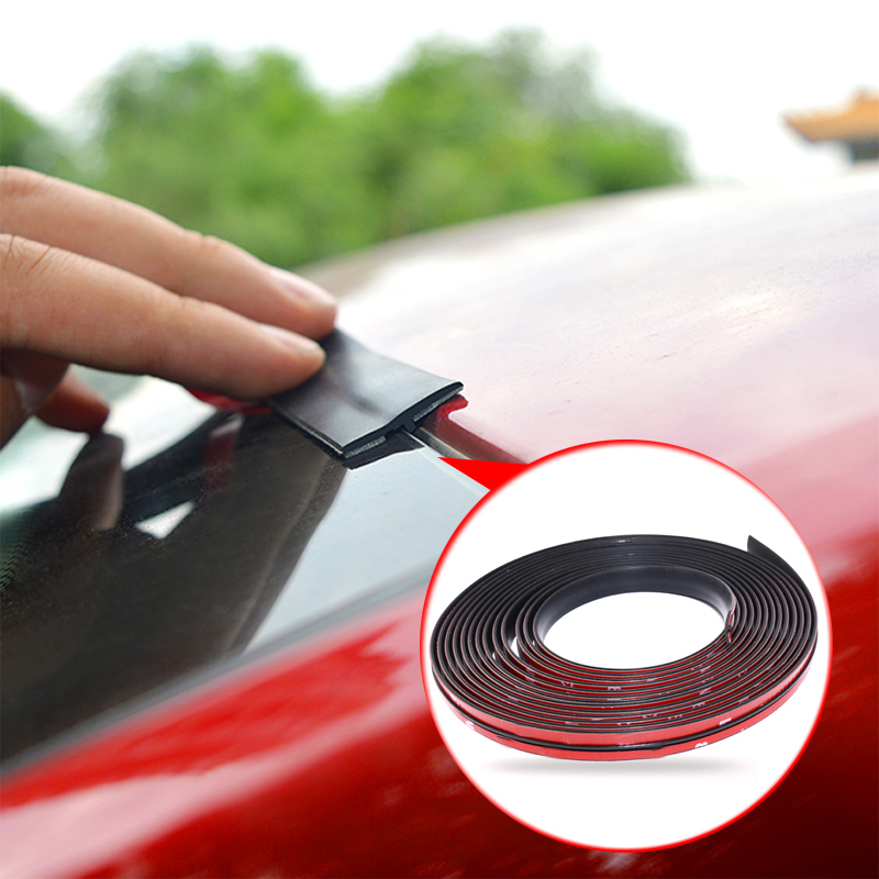 Rubber Auto Roof Protector Seal Noise Insulation Car Door Weatherstrip Front Rear Windshield Edge Sealing Strips Car Accessories