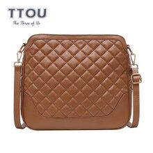 TTOU Fashion Women Classic Diamond Lattice Messenger Bags Patchwork Solid Crossbody Shoulder Bag Female Dating