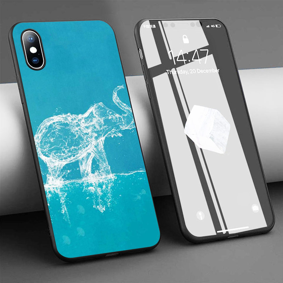 Coque Elephant Shower Curtain Soft Silicone Phone Case For Iphone 11 Pro Max X 5s 6 6s Xr Xs Max 7 8 Plus Case Phone Cover Fitted Cases Aliexpress