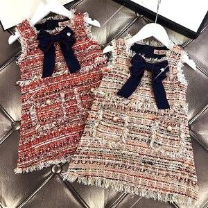 Image 2 - תינוק בנות מערבי אופנה אפוד שמלת מסיבת שמלת ילדה המפלגה נסיכת שמלה חדש KidsSpring סתיו חורף בגדים