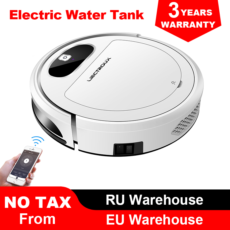 Liectroux 11S Vacuum Cleaning Robot, WiFi App,Gyroscope & 2D Map Navigation,Electric Control Air Pump Water Tank,Wet Dry Cleaner