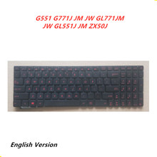 Laptop-English-Keyboard Replacement Layout Notebook G771J GL551J Asus for G771j/Jm/Jw/..