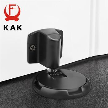 KAK Heavy Duty Magnetic Door Stopper Mechanical Door Stop Adjustable Door Holder Non-punch Sticker Furniture Door Hardware