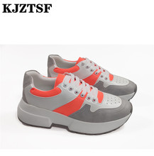 KJZTSF New Wedge Sneakers Women Thick Bottom Casual Platform Shoes Summer Outdoor Running shoes 2019 Walking Footwear