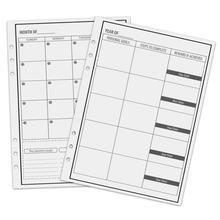 NEWYES A5 Reusable Erasable Loose Leaf Notebook Refill Spiral Binder Index Inner