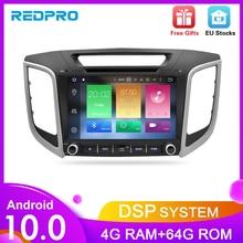 "Autoradio android 10.0, écran IPS 9 "", Navigation GPS, lecteur multimédia, DVD, vidéo, 2 Din, pour voiture Hyundai ix25 Creta (2014 2018)"