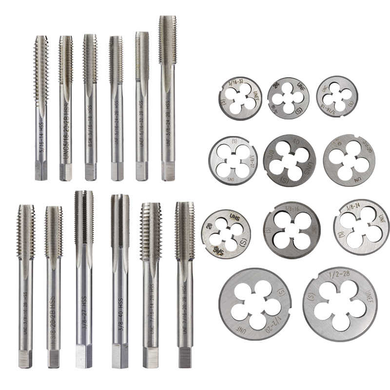 """1//2/""""-28 New 1//2-28 Gunsmithing Tap and Die Set TiN Coated RH Thread For 1//2/""""-28"""