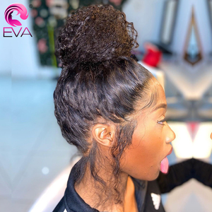 Image 5 - Eva Hair 360 Lace Frontal Wig Pre Plucked With Baby Hair Brazilian Curly Lace Front Human Hair Wigs For Black Women Remy Hair