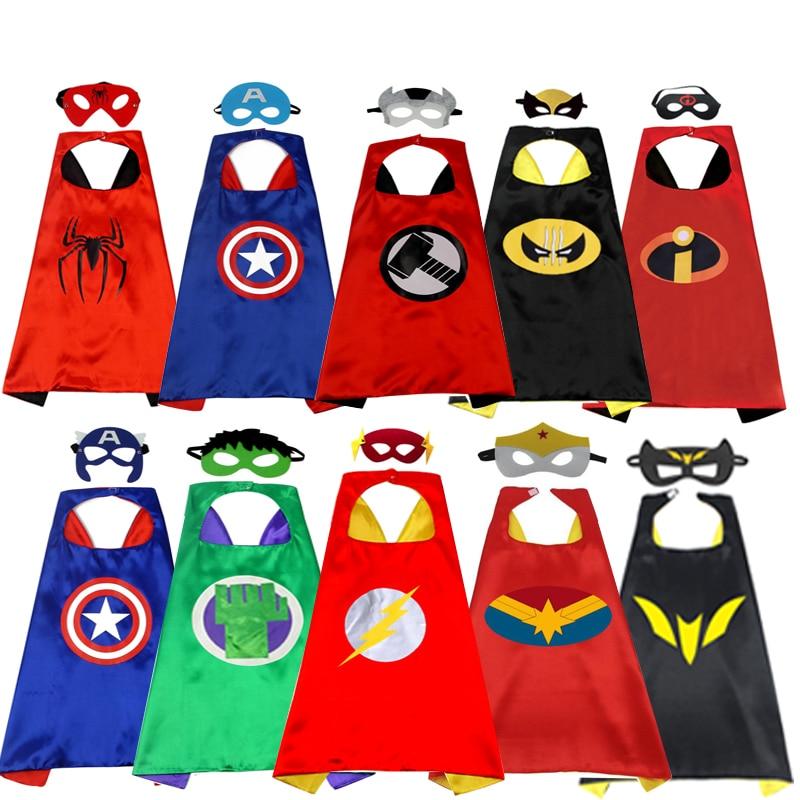 Manufacturers Supply Children's Cartoon Hero Cloak Custom Double Halloween Spider-man  Kids Cloak