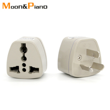 1PC Universal UK IT EU US To AU Plug Adapter Travel AC Power Electrical Converter 3 Flat gray Pin Socket Portable for Journey
