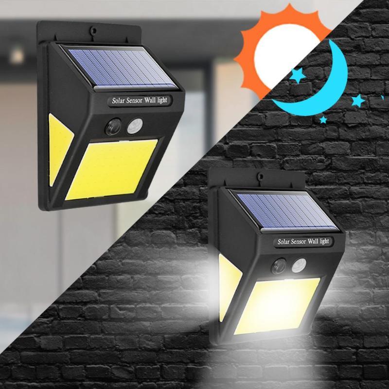 1/2/4Pcs PIR Motion Sensor Solar Lamp LED Light Waterproof IP65 Outdoor Courtyard Wall Lamp 1/2/4Pcs
