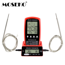 MOSEKO Wireless Remote Meat Thermometer Dual Probe Digital Backlight Cooking Oven BBQ Kitchen Food Thermometer Grilling Barbecue