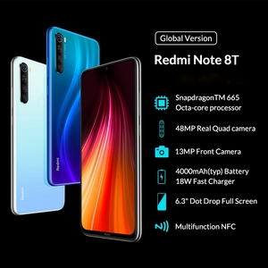 Image 3 - Global Version Xiaomi Redmi Note 8T 4GB 128GB 18W Quick Charge Smartphone Snapdragon 665 48MP Camera 4000mAh NFC Smartphone 6.3