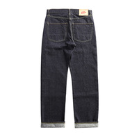 47501 0002 size 28 42 vintage 14 oz raw indigo selvage stylish trousers mens casual raw denim jean pants