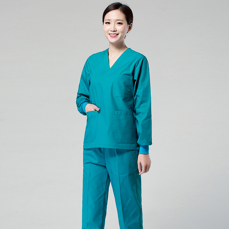 Medical Scrub Tops For Women Hospital Doctor Surgical Multicolor Medical Uniforms Nursing Clothes Spa Uniform Shirt