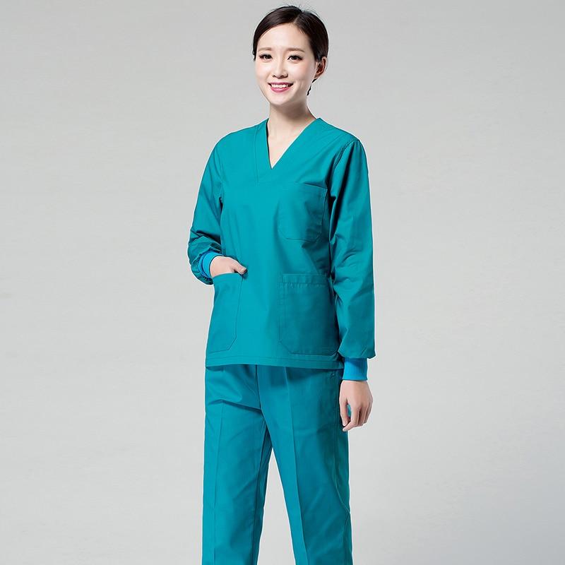 Medical Scrub Tops For Women Hospital Doctor Surgical Multicolor Medical Uniforms Nursing Clothes Spa Uniform Shirt