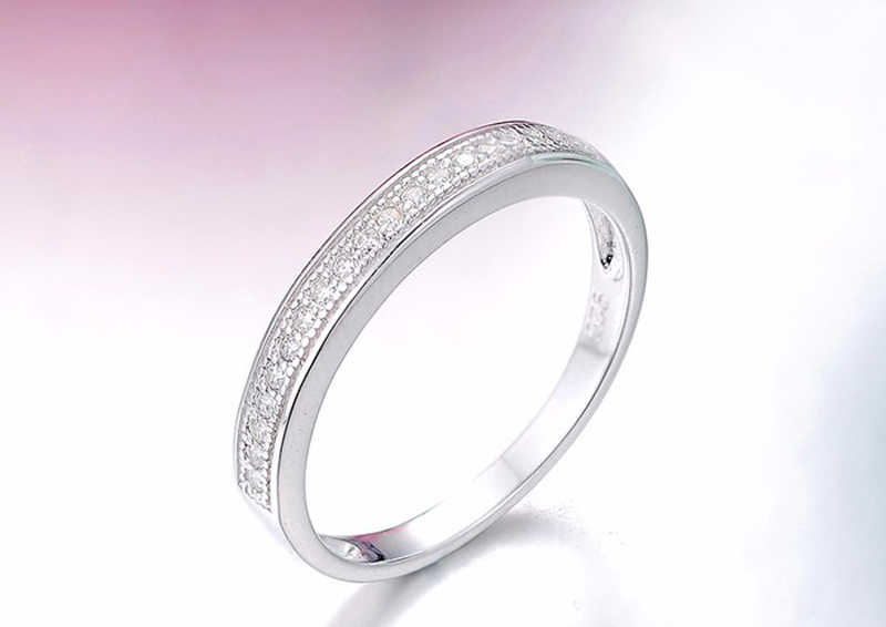 YANHUI Top Quality 925 stałe srebrne wesele Party Finger Rings dla kobiet moda marka kryształ cyrkon pierścionek z ogonkiem Vintage biżuteria