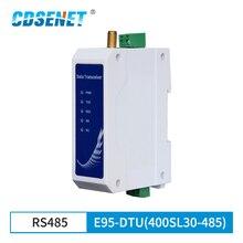 RS485 SX1268 Lora 433Mhz Half Duplex 30dBm Lange Bereik 10Km Modbus Din Rail High Performance Draadloze Data transmissie Relais Lbt