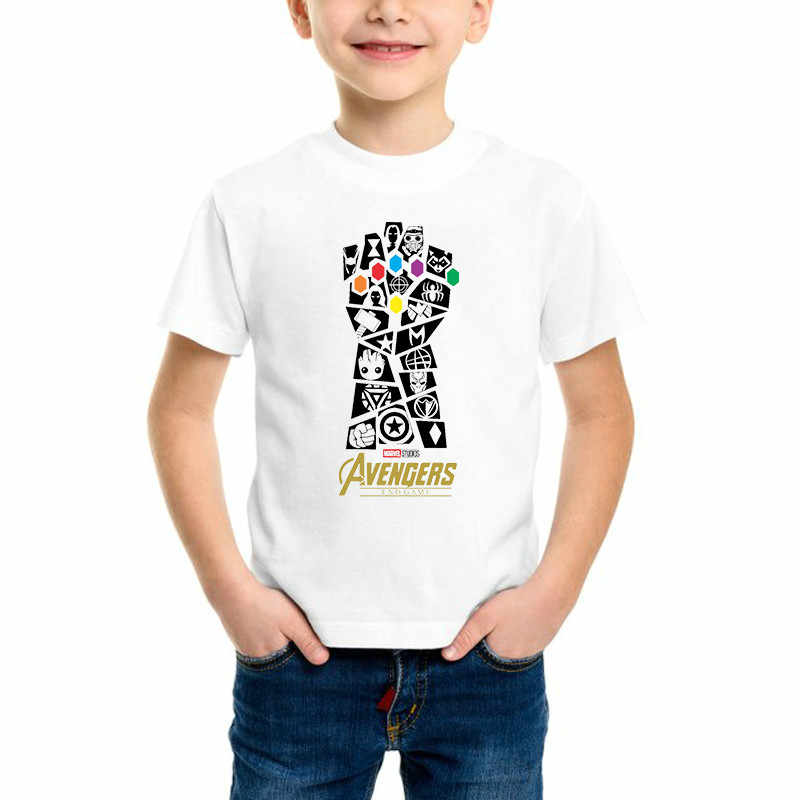Avengers End Game Kids t shirt Whatever It Takes Boy Printed T-shirts Marvel Movie Harajuku Children Vogue Clothes Tees,bal013