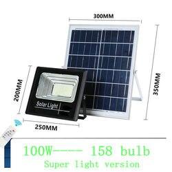 Солнечный светильник, прожектор, светильник 25 Вт, 40 Вт, 60 Вт, 100 Вт, 200 Вт, точечный светильник, IP66, Белый, автоматический, светодиодный, Солнечн...