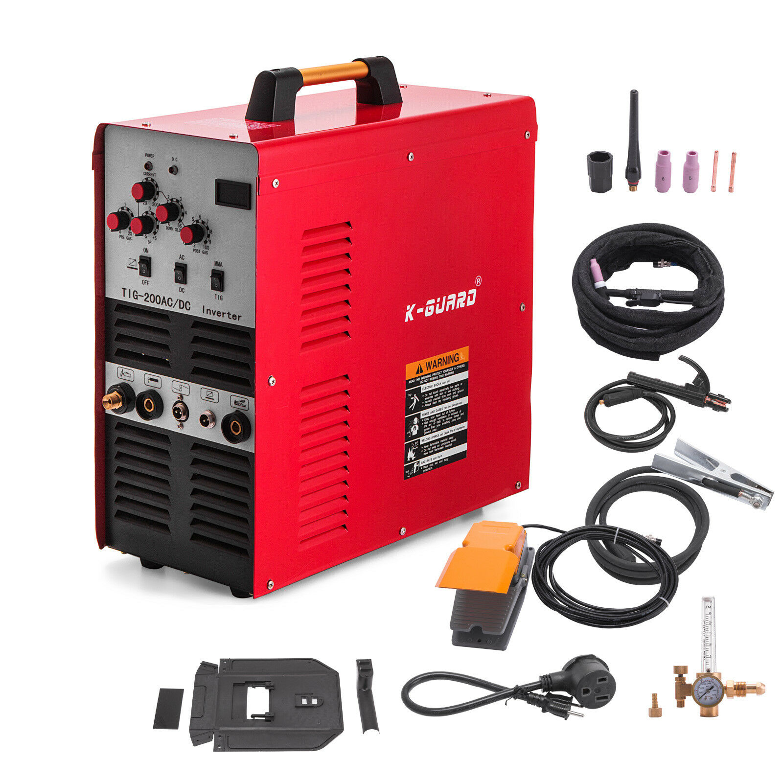 TIG/Stick Square Wave Inverter AC/DC Aluminum 200 Amp Welder IGBT Pulse Welding Machine 110/220V With  Free Shipping