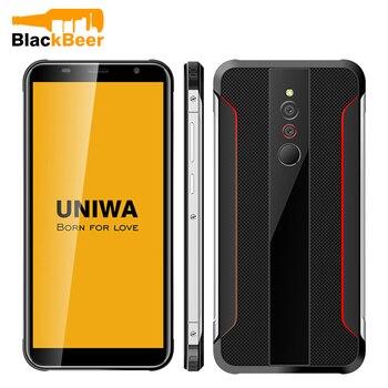 UNIWA X5 5.5 Inch Cellphobne 1GB 16GB Android 6.0 Quad Core Smart Phone Fingerprint Unlocked Mobile Phone Rugged Style 3100mAh