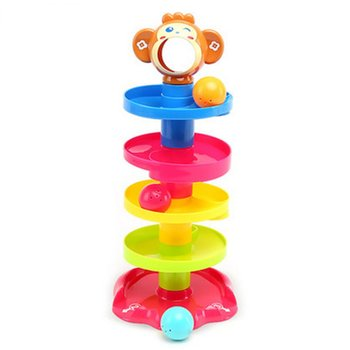 цена на Baby Puzzle Billiard Ball Player Catching The Ball Stacking Layered Tower Bell Ball Enlightenment Toy
