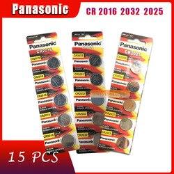 15 pçs bateria nova marca original para panasonic cr2032 cr 2025 cr2016 3v botão pilha baterias de moeda para assistir computador