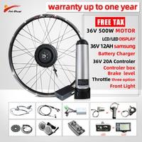 500W Elektrische Fahrrad Kit mit Lithium-Batterie 36v 12ah SAMSUNG MTB Stadt E bike 20 24 26 27,5 29 zoll elektrische fahrrad