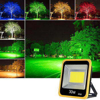 30W COB LED Garden Light Search Lamp LED Flood Light Outdoor Tree Projector Light Colorful waterproof outdoor flood light Oc15 30w outdoor wall washer garden yard park square building projector lamp led flood light