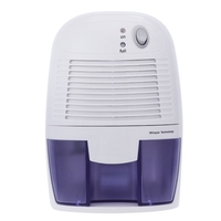 Uk Plug  Mini Dehumidifier Air Dryer Moisture Absorber Electric Cooling Dryer With 500Ml Water Tank For Home Bedroom Kitchen Off