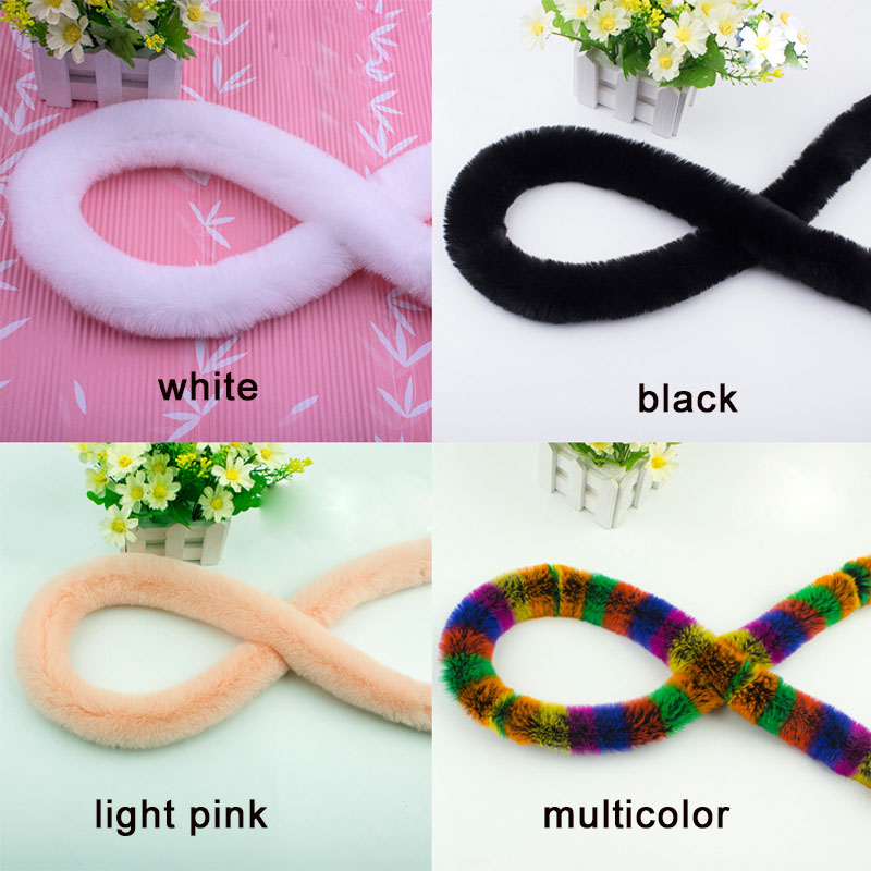 High Quality Artificial Rex Rabbit Fur Ribbon Tapes Furry Fluffy Trim Trimming DIY Home Decor Sewing Costume Crafts Lace Trim 1y