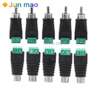 10pcs RCA Terminal Block CAT5 to Camera CCTV Video Balun RCA Female or Male Jack AV Screw Connector(China)
