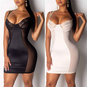 2019 Women's Sexy lingerie Sleepwear Dress Popular New Comfortable Breathable Large Size Sexy Sling Nightdress Pijamas 661SQ50