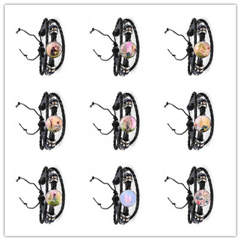 Exército bomba de vidro cabochão pulseira kpop couro bangle jóias k-pop meninos acessórios para fãs bigbang álbum amor a si mesmo presente