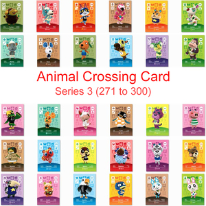 Series 3 (271 to 300) Animal Crossing Card Amiibo Card Work for NS 3DS Switch Game Amiibo Villager Card