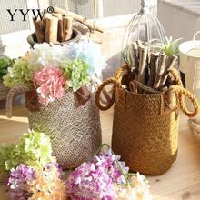Large Capacity Straw Storage Basket Clthoes Laundry Garden Flower Pot Plant Panier Osier Toys Organizer Home Decor