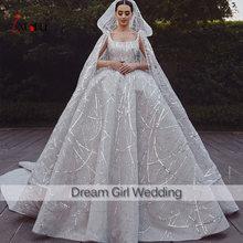Robe de mariee 2021 роскошное свадебное платье с накидка Фата